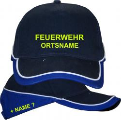 Feuerwehr Cap Basecap Aufdruck Motiv Logo Wunschname Kappe Bekleidung