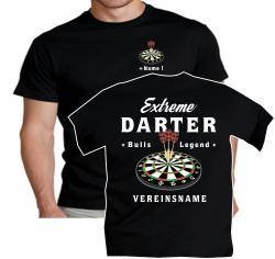 T-Shirt extreme darter darts Dart flights pfeile spitzen shirt tshirt t-shirt wm