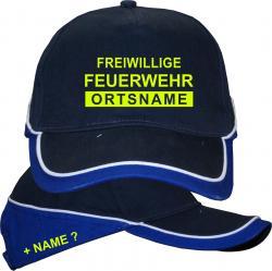 Freiwillige Feuerwehr Motiv Ortsname Kopfbedeckung Mütze mit Text Feuerwehr