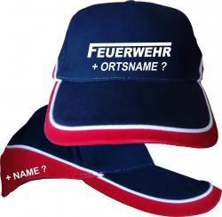 Feuerwehr mit Ortsname Cap bedruckt Langes F Basecap mit Druck Kopfbedeckung