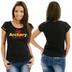 Bogensport Girlie Damenshirt Schießsport Schütze Verein Archery Bogenschießen