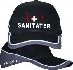 Sanitäter Cap T-Shirt EKG Caps Krankenwagen Basecap bedruckt Geschenk