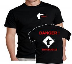 Achtung Sportschütze Dangerzone Schütze Hobby Verein Schießsportverein