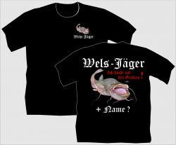 T-Shirt Wels-Jäger angelshirt angel angeln waller wels shirt tshirt bedruckt