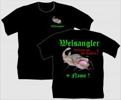T-Shirt Welsangler shirt tshirt bedruckt personalisiert waller angelshirt angel