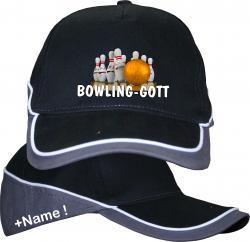 Basecap Mütze Cap Bowling Pin Spare Strike Bowling Cap Bowlinggott Tunier