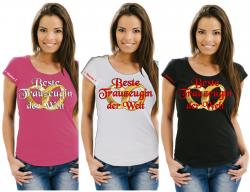 Girlie JGA Trauzeugin beste Freundin Brautjungfer Braut Partyshirts Fun