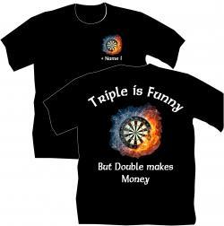 Dart T-Shirt, Dartclub, Vereinsshirt, Darten, Flights, Pfeile,Triple