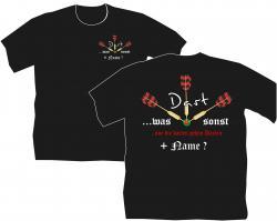Dart T-Shirt, Dartclub, Vereinsshirt, Darten, Flights, Pfeile,