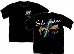 Schweden Fishing Angler T-Shirt bedruckt Angelurlaub Herrenbekleidung Urlaub