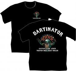 Dart T-Shirt born do play Dart, Darten, Kneipe, Freizeit, Flight, Pfeil,