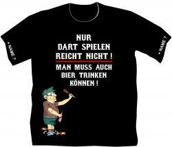Dart T-Shirt Dartclub Vereinsshirt Darten Flights Pfeile Sportshirt Spieler