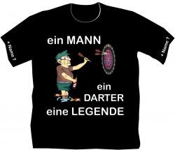 T-shirt Dart Legende Held Player Flights Scheibe Vereins Freizeit Kneipe Bar