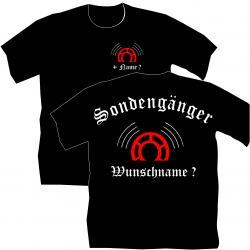 Sondengänger, Sondlershirt, Schatzsuche, Gold., Schatzjäger, Münzen, T-Shirt