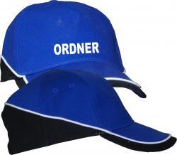 Basecap Sicherheitsdienst Ordner Cap bedruckte Mütze Security