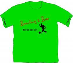 Bowlinshirt, Extremebowler, Kugel, Bowlingbahn, Pins,Freizeit, Bowling und Bier