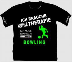 Bowlingshirt, Extremebowler, Kugel, Bowlingbahn, Pins,Freizeit, Bowling und Bier