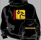 Kapuzen-Sweatshirt Skisport Motiv 11