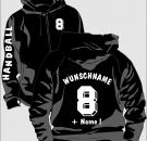 Kapuzenjacke Handball Motiv 12