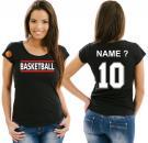Girlie-Shirt Basketball Motiv 12